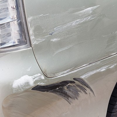 rear fender scratched